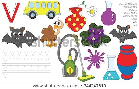 V is for educational game for children Stock photo © izakowski
