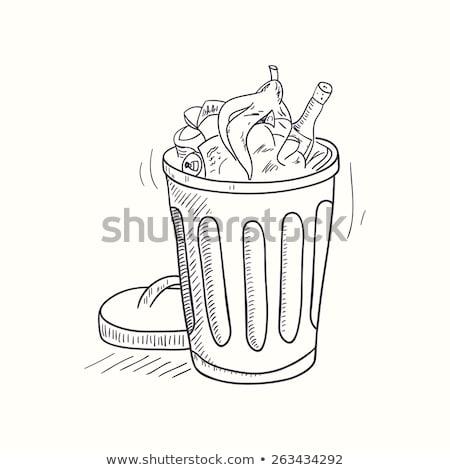 мусор рисованной болван икона Сток-фото © RAStudio