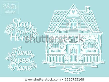 Cottage Flower Garden Illustration Stock photo © lenm