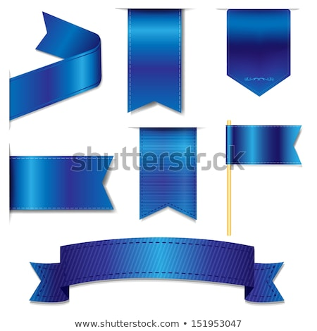 Blue Ribbon Set Stock photo © cammep