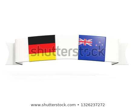 Banner dos cuadrados banderas Alemania Nueva Zelandia Foto stock © MikhailMishchenko