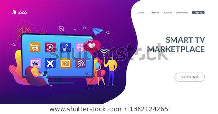 Smart TV applications concept landing page. Stock photo © RAStudio