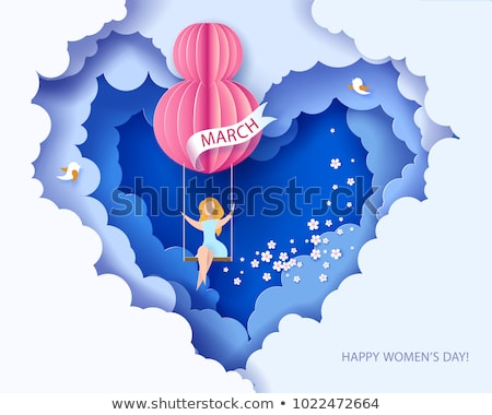 международных · Женский · день · плакат · дизайна · оригами · стиль - Сток-фото © sarts