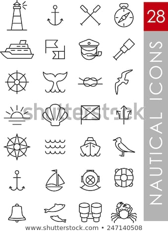 Icon of  boat oars Stock photo © angelp