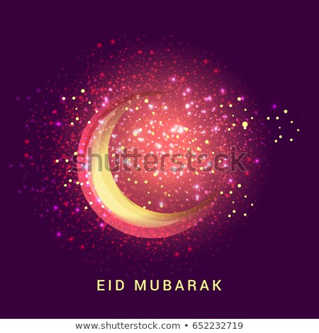 eid mubarak golden sparkle moon design Stock photo © SArts