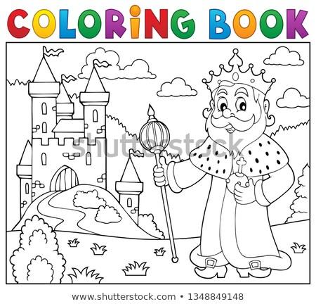 libro · da · colorare · re · castello · libro · uomo · vernice - foto d'archivio © clairev