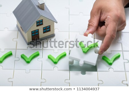 House Model With Tick Mark Stock photo © AndreyPopov