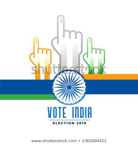 Szavazás indiai választás poszter zászló vidék Stock fotó © SArts