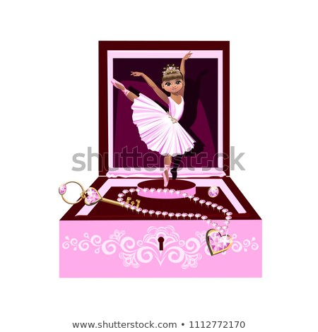 vector cute jewelry box casket stock photo © VetraKori