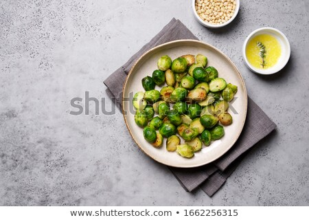 Fried Brussels sprouts Сток-фото © YuliyaGontar