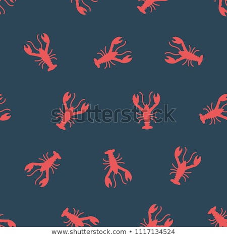 Langosta ilustración rojo naturaleza mar Foto stock © biv