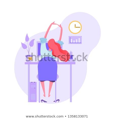 Kimerült karakter üzletember munka vektor fáradt Stock fotó © pikepicture