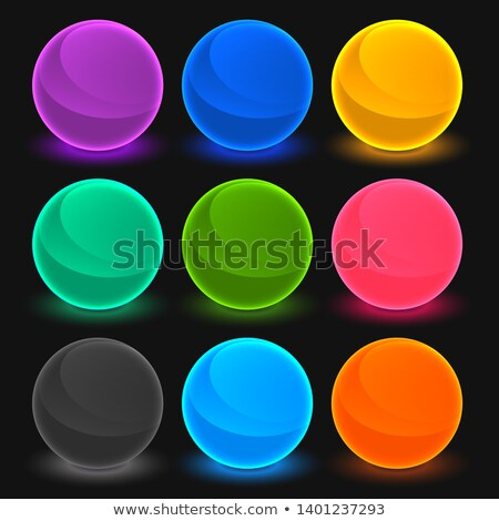 bright toon shades buttons set Stock photo © SArts