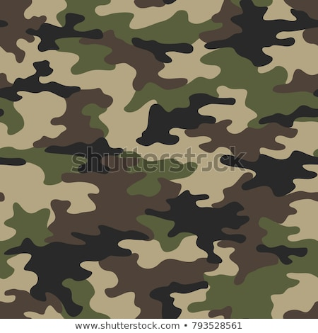 forest jungle camouflage abstract seamless repeating pattern vector illustration stock photo © jeff_hobrath