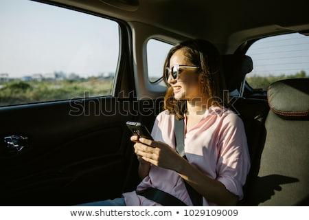 empresário · táxi · jovem · carro · estrada - foto stock © pressmaster