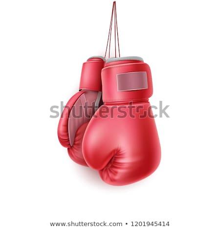 Realista vermelho luvas de boxe ícone isolado esportes Foto stock © MarySan