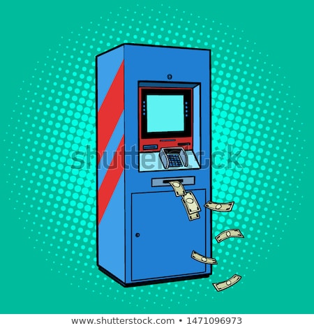 ATM money. cash theft issuance loss Stock photo © studiostoks