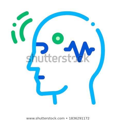 Cérebro controlar vetor fino linha ícone Foto stock © pikepicture