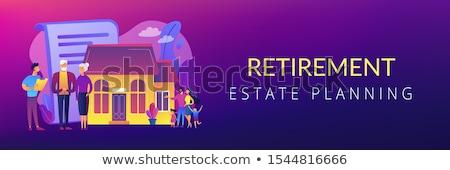 biztosítás · szolgáltatások · szalag · bannerek · poszter · weboldal - stock fotó © rastudio