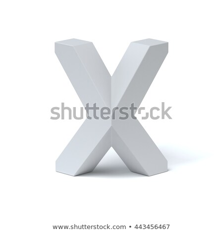 Blue extruded font Letter X 3D Stock photo © djmilic