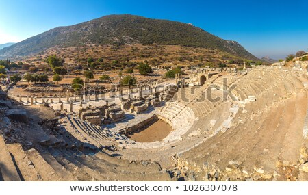 odeon theater in ancient city ephesus stock photo © grafvision