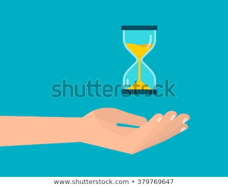 прошлое будущем Hour Glass иллюстрация Динозавры Top Сток-фото © lenm
