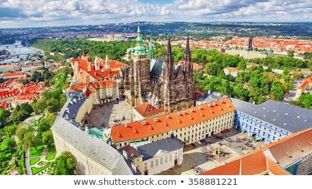 Stockfoto: Vierkante · Praag · weinig · oude · binnenstad · avond · Tsjechische · Republiek