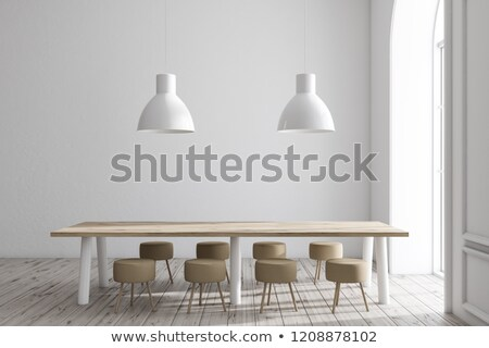 Wooden dining table Stock photo © magraphics