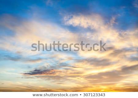 Cloudscape with dramatic sunset Stock photo © vapi