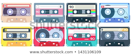 カセット テープ リスニング 音楽 レトロな ベクトル ストックフォト © pikepicture