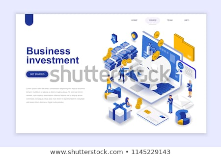 Cash savings isometric 3D landing page. Stock photo © RAStudio