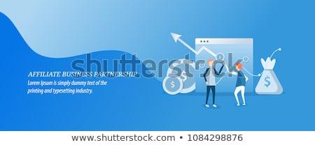 Affiliate marketing concept vector illustration. Stock photo © RAStudio