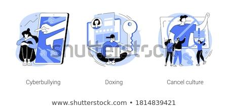 Internet target individueel laptop online gebruiker Stockfoto © RAStudio