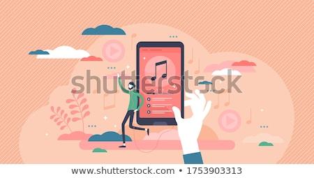 Muzyki streaming użytkownik gry smart Język Zdjęcia stock © RAStudio