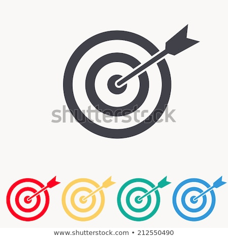 Target with arrow flat color illustration Stock photo © barsrsind