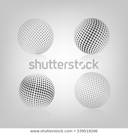 Sphere With Halftone Fill Vector Illustration Сток-фото © kup1984