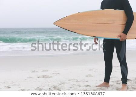 низкий молодые кавказский мужчины Surfer Сток-фото © wavebreak_media