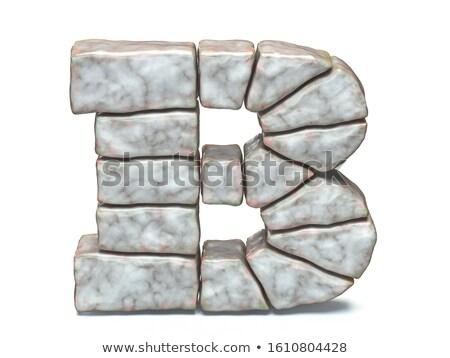 Rocha alvenaria fonte carta 3D 3d render Foto stock © djmilic