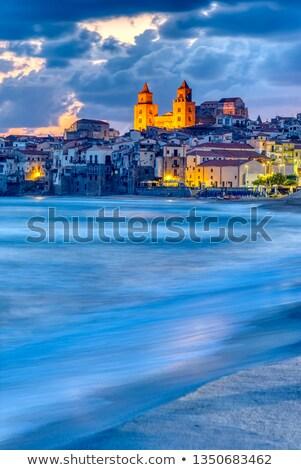 ビーチ 北 海岸 シチリア島 空 家 ストックフォト © elxeneize