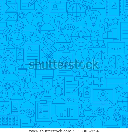 Hr Human Resources Seamless Pattern Vector Stock photo © pikepicture