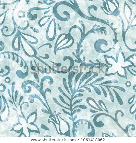 Floral Muster Blume Fanfare dekorativ Stock foto © Terriana