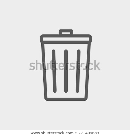 trash can icon vector outline illustration Stock photo © pikepicture