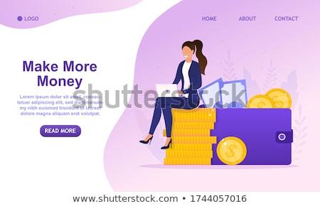 Kobiet inwestycje monety znak dolara ręce Zdjęcia stock © robuart