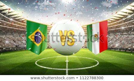 Brazylia vs Meksyk piłka nożna meczu ilustracja Zdjęcia stock © olira