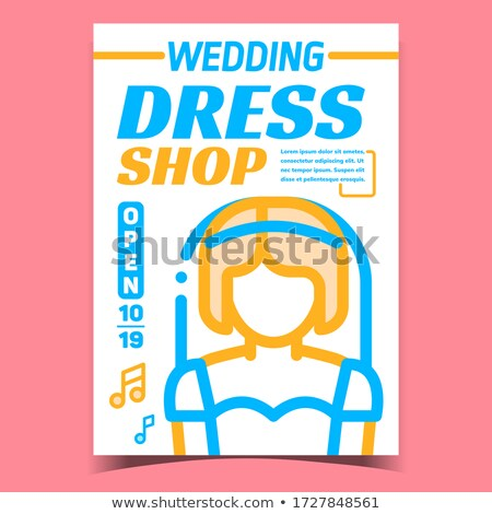 Wedding Dress Shop Creative Promo Banner Vector Illustration Stock photo © pikepicture