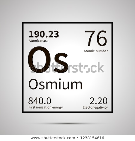Osmium chemical element with first ionization energy, atomic mass and electronegativity values ,simp Stock photo © evgeny89