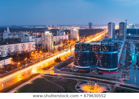 Avond stadsgezicht heilige geest kathedraal rivier Stockfoto © dmitry_rukhlenko