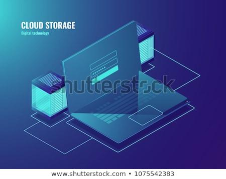 データセンター 雲 ファイル を ストレージ アイコン ストックフォト © robuart