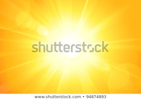 Bright Yellow Background With Glowing Rays Light Stockfoto © wenani