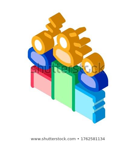 Zwycięzcy podium ludzi talent izometryczny ikona Zdjęcia stock © pikepicture
